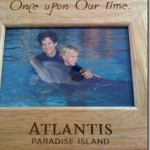 Hugging Dolphins at Atlantis Resort